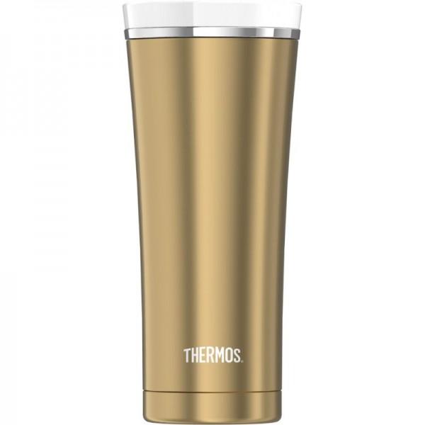 AlfiThermos Isolierbecher Premium gold/weiß 0,47L