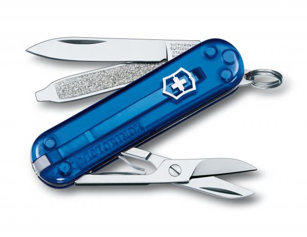 Victorinox Classic SD Blau Transparent