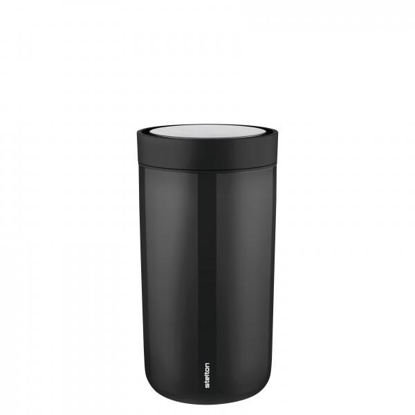 Stelton To Go Click Stahl Becher - black 0,2 Liter