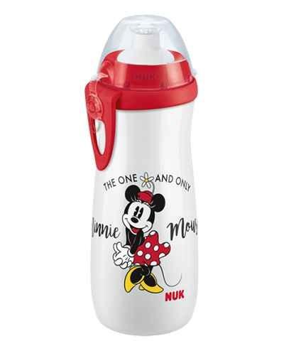 NUK Disney Mickey Sports Cup 450ml mit Push-Pull-Tülle, ab 36 Monate, BPA-Free, 450 ml, Minnie, 1 St