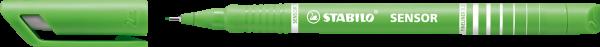 STABILO Fineliner SENSOR, hellgrün, 0,3 mm