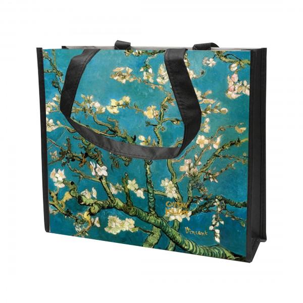 """Goebel Einkaufstasche, Vincent van Gogh - """"Mandelbaum blau"""""""