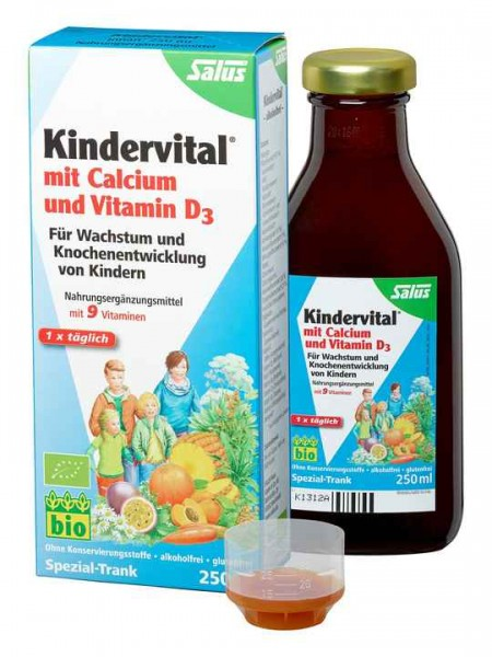 Salus Floradix Kindervital mit Calcium und Vitamin D3 250ml