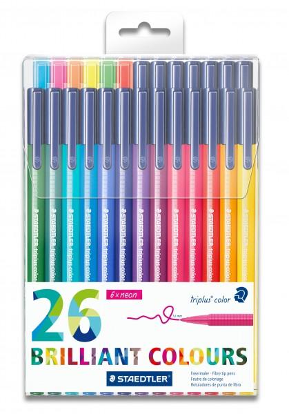 STAEDTLER Fasermaler Triplus Color farbig sortiert 26 St.