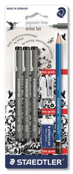 STAEDTLER Artists Set Fine Liner + Bleistift