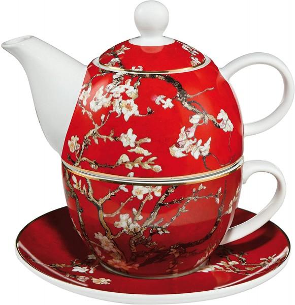 Goebel Tea for One - Vincent van Gogh Mandelbaum Rot