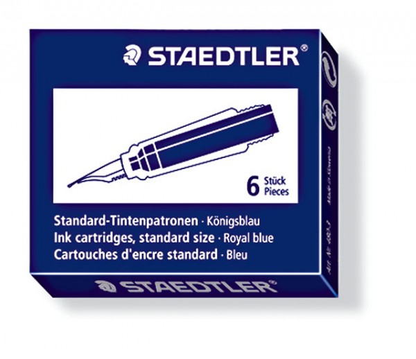 STAEDTLER Tintenpatronen 6 St. Blau