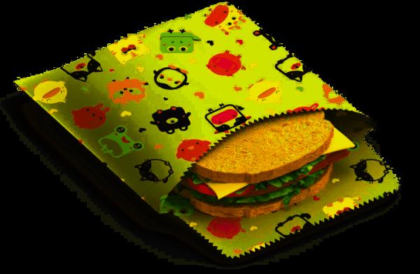 "Nuts Bee's Wax Sandwich & Snack Beutel ""Kinder"" 2er Set"