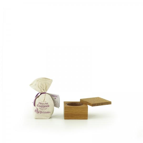 Jack & Lucy Geschenkset Gewürzdose, mit 125g Fleur de sel - Eiche