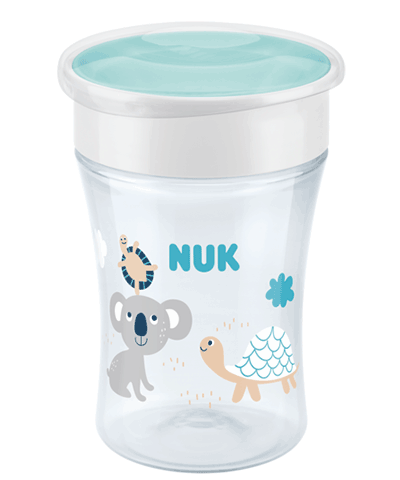 NUK Magic Cup 230ml mit Trinkrand und Deckel - Koala & Schildkröten
