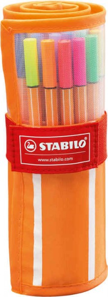 STABILO point 88 30er Rollerset (25 standard and 5 Neon)