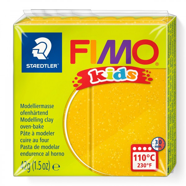 STAEDTLER FIMO kids Modelliermasse Glitter Gold
