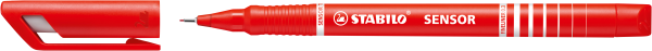 STABILO Fineliner SENSOR, rot, 0,3 mm