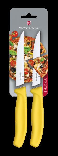 Victorinox Pizza-/Steakmesser Gelb, 2 St.