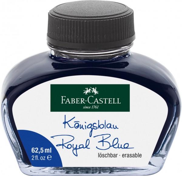 Faber-Castell Tintenglas, 62,5 ml, Tinte blau löschbar