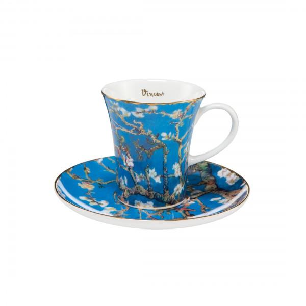 Goebel Mandelbaum Blau Espressotasse, Vincent van Gogh