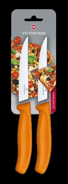 Victorinox Pizza-/Steakmesser Orange, 2 St.