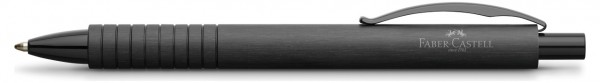 Faber-Castell Essentio Aluminium Kugelschreiber, B, schwarz