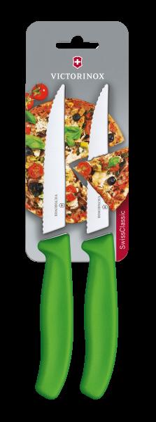 Victorinox Pizza-/Steakmesser Grün, 2 St.