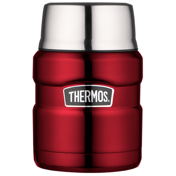 Alfi Thermos Isolier-Speisegefäß Stainless King, Cranberry 0,47L