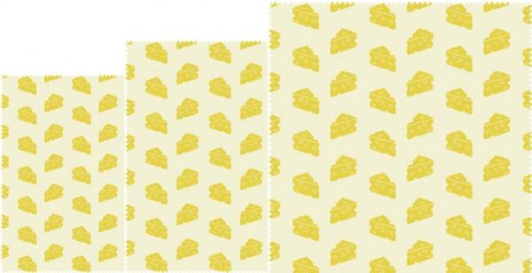 "Nuts Bee's Wax Bienenwachstücher ""Käse"" 3er Set"