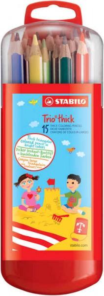 STABILO Trio dick Buntstifte 15er Box
