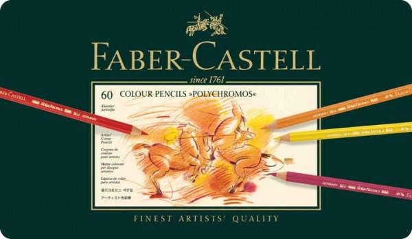 Faber-Castell Farbstift Polychromos 60er Metalletui