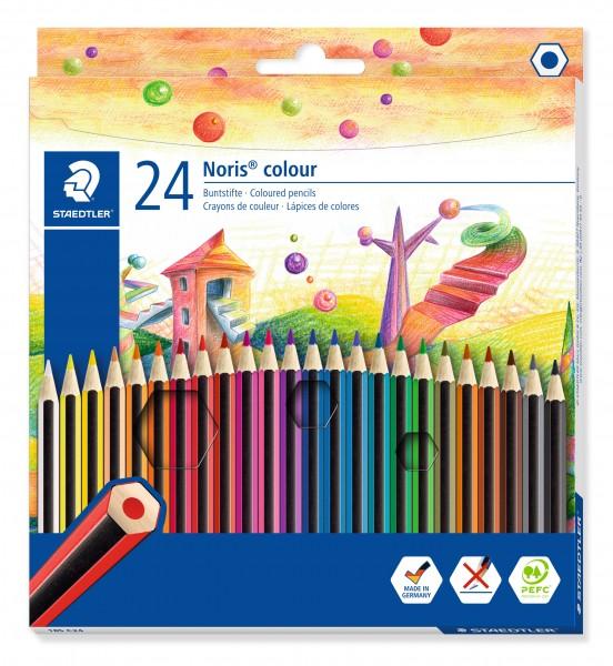STAEDTLER Buntstift Noris colour 24er Kartonetui