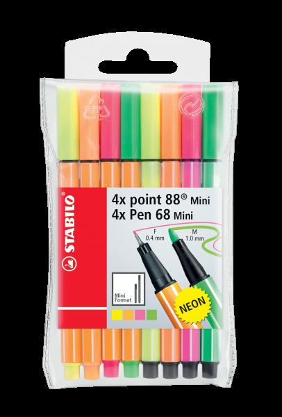 STABILO Fasermaler Pen 68 Mini / Fineliner point 88 Mini