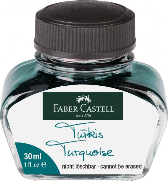 Faber-Castell Tintenglas, 30 ml, Tinte türkis