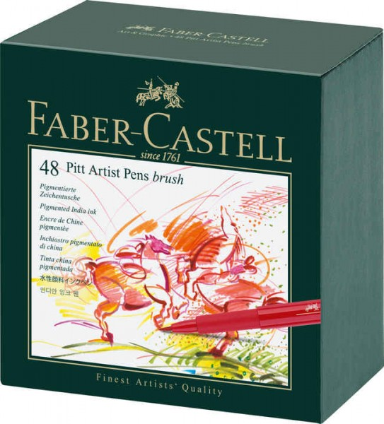 Faber-Castell PITT artist pen B 48er Atelierbox