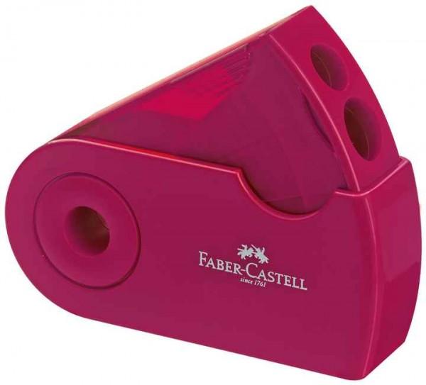 Faber-Castell Spitzer Doppelspitzdose SLEEVE brom/blau