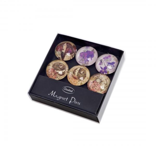 Goebel Artis Orbis Magnete-Set Klimt 6 Stück, Charles Mackintosh