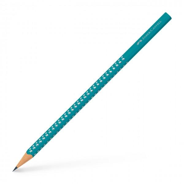 Faber-Castell Bleistift Grip Sparkle türkis