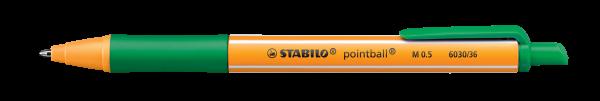 STABILO Druckkugelschreiber pointball, grün