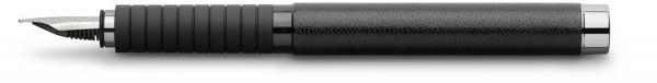 Faber-Castell Essentio Leather Füller, schwarz